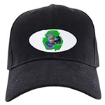 Earth Day Recycle Black Cap