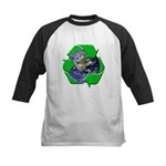 Earth Day Recycle Kids Baseball Jersey