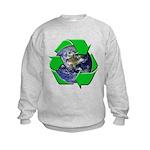 Earth Day Recycle Kids Sweatshirt