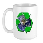 Earth Day Recycle Large Mug