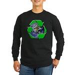 Earth Day Recycle Long Sleeve Dark T-Shirt