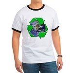 Earth Day Recycle Ringer T