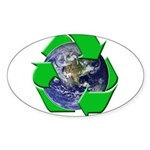 Earth Day Recycle Oval Sticker