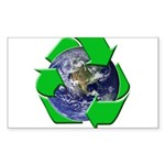 Earth Day Recycle Rectangle Sticker