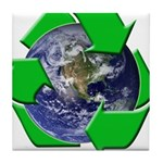 Earth Day Recycle Tile Coaster