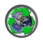 Earth Day Recycle Wall Clock