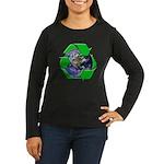 Earth Day Recycle Women's Long Sleeve Dark T-Shirt