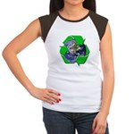 Earth Day Recycle Women's Cap Sleeve T-Shirt