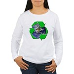 Earth Day Recycle Women's Long Sleeve T-Shirt
