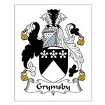 Grymsby Family Crest Small Poster