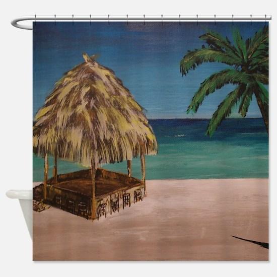 Unique Bar stool Shower Curtain