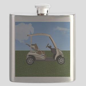 Golf Cart on Grass Flask