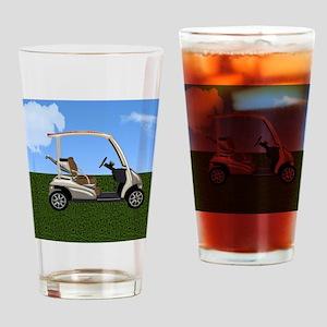 Golf Cart on Grass Drinking Glass