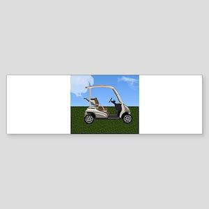 Golf Cart on Grass Bumper Sticker
