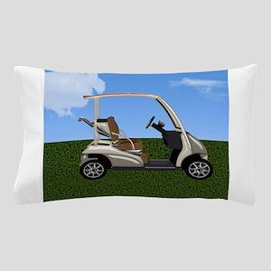 Golf Cart on Grass Pillow Case