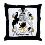 Grimshaw Family Crest Throw Pillow
