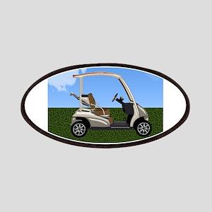 Golf Cart on Grass Patch
