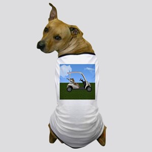 Golf Cart on Grass Dog T-Shirt