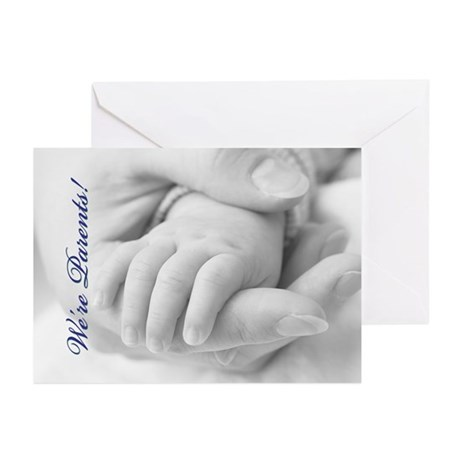 We're Parents (Blue) Greeting Cards (Pk of 20)