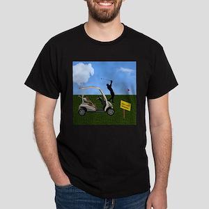 Golf Cart on Grass Crossing Warning T-Shirt