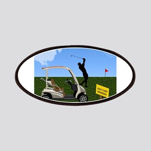 Golf Cart on Grass Crossing Warning Patch