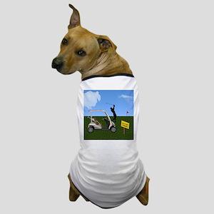 Golf Cart on Grass Crossing Warning Dog T-Shirt