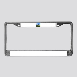 Golf Cart on Grass Crossing Wa License Plate Frame