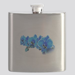 Ice blue orchids Flask