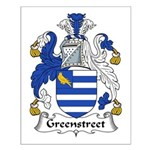 Greenstreet Family Crest Small Poster