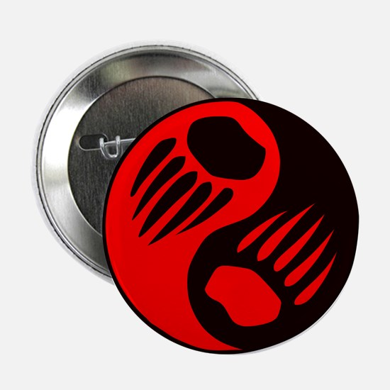 Bear Claw Yin Yang Button