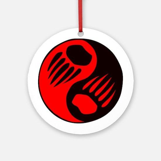 Bear Claw Yin Yang Ornament (Round)