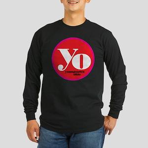 Red Yo! Long Sleeve Dark T-Shirt