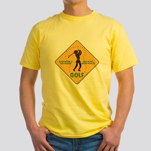 Ladies Golf Yellow T-Shirt