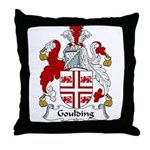 Goulding Family Crest Throw Pillow