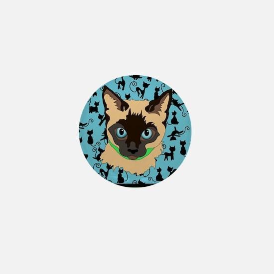 Cute Kitty art Mini Button