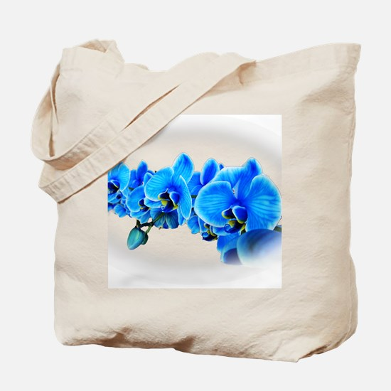 Ice blue orchids Tote Bag
