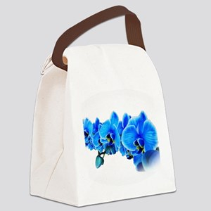 Ice blue orchids Canvas Lunch Bag