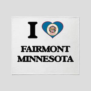 I love Fairmont Minnesota Throw Blanket
