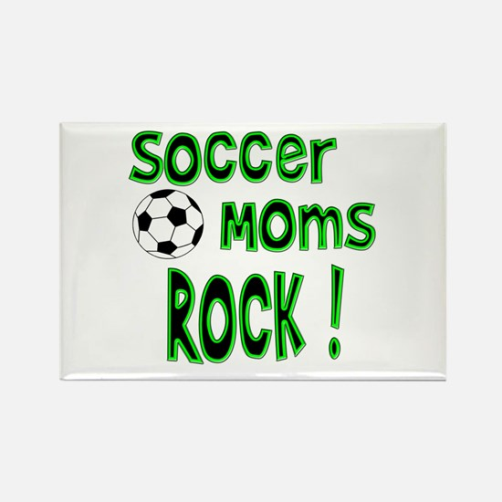 Soccer Moms Rock ! Rectangle Magnet
