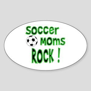 Soccer Moms Rock ! Oval Sticker