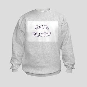 Save Pluto Kids Sweatshirt