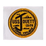 USS JOUETT Throw Blanket