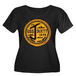 USS JOUE Women's Plus Size Scoop Neck Dark T-Shirt