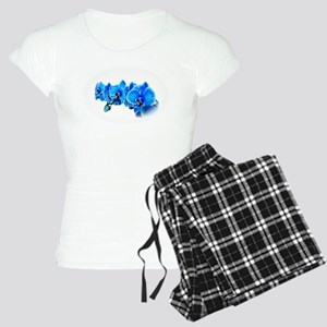 Ice blue orchids Women's Light Pajamas