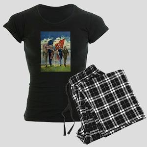 Vintage Forth of July Women's Dark Pajamas