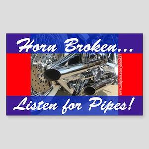 Horn Broken Rectangle Sticker
