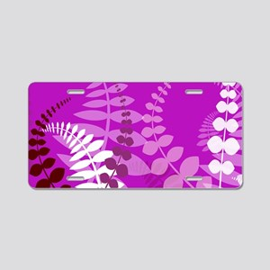 Tropical Purple Aluminum License Plate