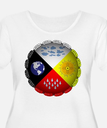 Medicine Wheel Plus Size T-Shirt