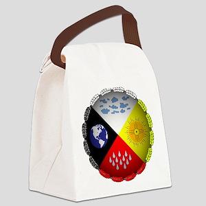 Medicine Wheel Canvas Lunch Bag
