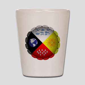 Medicine Wheel Shot Glass